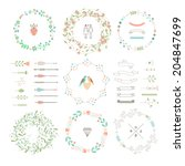 floral decor set. different... | Shutterstock .eps vector #204847699