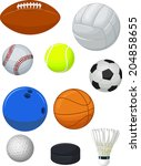 sport balls collection | Shutterstock .eps vector #204858655