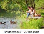 family on picnic   Shutterstock . vector #204861085