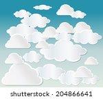 clouds vector | Shutterstock .eps vector #204866641