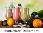 healthy diet  protein shakes ... | Shutterstock . vector #204874774