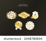 gold leaf high quality label... | Shutterstock .eps vector #2048780834