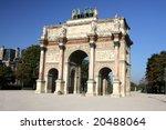 triumphal arch in paris against ...   Shutterstock . vector #20488064