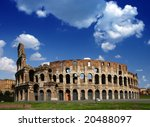 ruins of the collosseo of an... | Shutterstock . vector #20488097