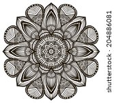 mandala. round ornament pattern.... | Shutterstock . vector #204886081