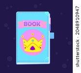 game ui icon book tale cute...