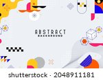 background with flat geometric... | Shutterstock .eps vector #2048911181