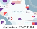 background with flat geometric... | Shutterstock .eps vector #2048911184