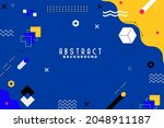 background with flat geometric... | Shutterstock .eps vector #2048911187