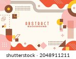 background with flat geometric... | Shutterstock .eps vector #2048911211