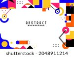background with flat geometric... | Shutterstock .eps vector #2048911214