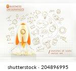 business infographics  start up ... | Shutterstock .eps vector #204896995