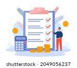 businessman standing next to...   Shutterstock .eps vector #2049056237