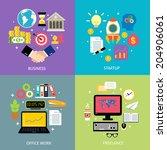 business workflow types concept ... | Shutterstock . vector #204906061