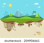 nature saving and pollution... | Shutterstock .eps vector #204906661