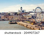 Port In Helsinki City  Finland