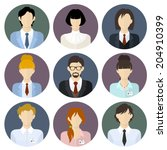 circle business team icons set... | Shutterstock .eps vector #204910399