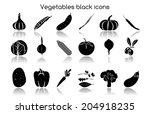 vegetable organic food black... | Shutterstock . vector #204918235