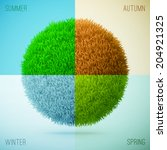 four seasons collage. spring ... | Shutterstock .eps vector #204921325
