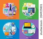 business steps concept... | Shutterstock . vector #204925831