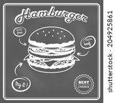 delicious best choice hamburger ... | Shutterstock . vector #204925861