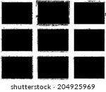 set of grunge frames  | Shutterstock .eps vector #204925969