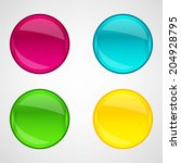 colorful web buttons set | Shutterstock .eps vector #204928795