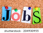 the word jobs in cut out... | Shutterstock . vector #204930955