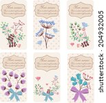 set of retro stylized floral... | Shutterstock .eps vector #204932005
