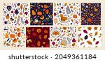collection of aautumn seamless...   Shutterstock .eps vector #2049361184