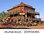 Old Wild West Building In A...