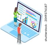financial strategy planning ...   Shutterstock .eps vector #2049376187