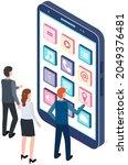 teamwork with development of...   Shutterstock .eps vector #2049376481