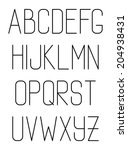 light thin hand drawn font type ... | Shutterstock . vector #204938431