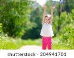 adorable little girl having fun ...   Shutterstock . vector #204941701