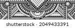 polynesian tattoo pattern maori ... | Shutterstock .eps vector #2049433391