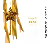 gold christmas star with... | Shutterstock . vector #20494571