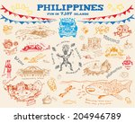 Philippine doodle sketch concept collection 2.Vector eps10 - stock vector