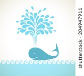 vector icon of whale with... | Shutterstock .eps vector #204947911