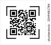 scan qr code with mobile phone. ... | Shutterstock .eps vector #2049481784
