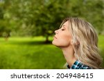 relaxing outdoors  | Shutterstock . vector #204948415