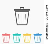 bin icon   vector illustration | Shutterstock .eps vector #204953395