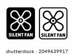 """silent fan"" vector information ... | Shutterstock .eps vector #2049639917"