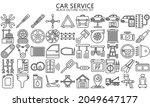 car service outline icons set ...