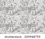 doodle business seamless | Shutterstock .eps vector #204968755