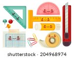 set of back to school icons  ... | Shutterstock .eps vector #204968974
