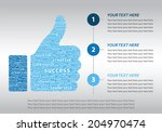 thump up symbol formed by... | Shutterstock .eps vector #204970474