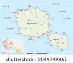 tahiti road and administrative... | Shutterstock .eps vector #2049749861