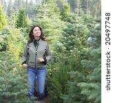 a woman wondering threw a... | Shutterstock . vector #20497748