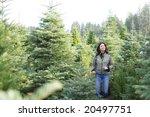 a woman wondering threw a... | Shutterstock . vector #20497751